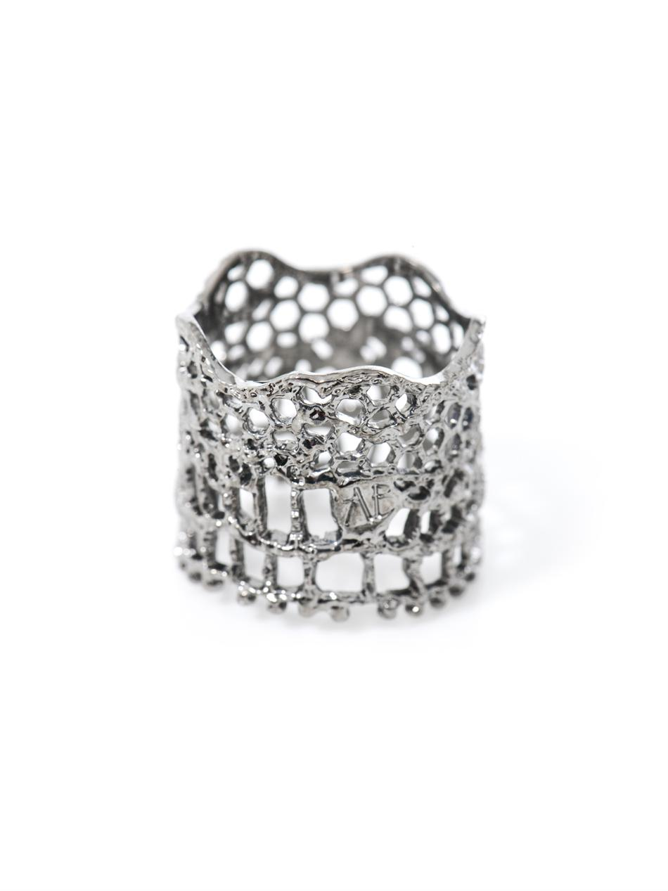 Plated vintage lace ring