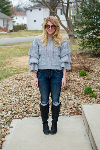 lestylorouge blogger sweater jeans shoes socks jewels sunglasses