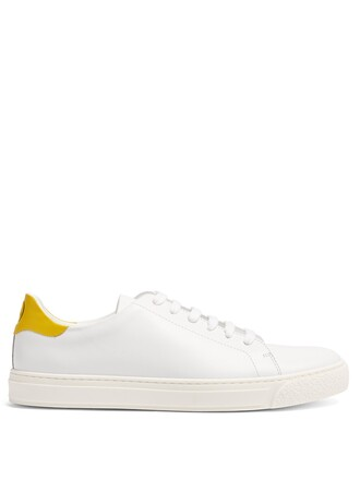 top leather white yellow
