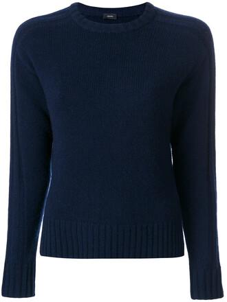 jumper women blue knit sweater