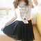 2014 women chiffon pleated retro elastic waist short mini dress skirt 8 colors | ebay