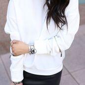 top,maniere de voir,white,croc,embossed,jumper,sweater,oversized,zip