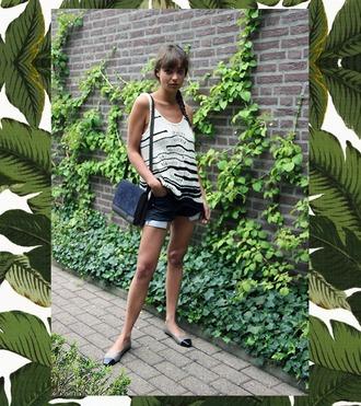 mode d'amour blogger tank top shorts bag