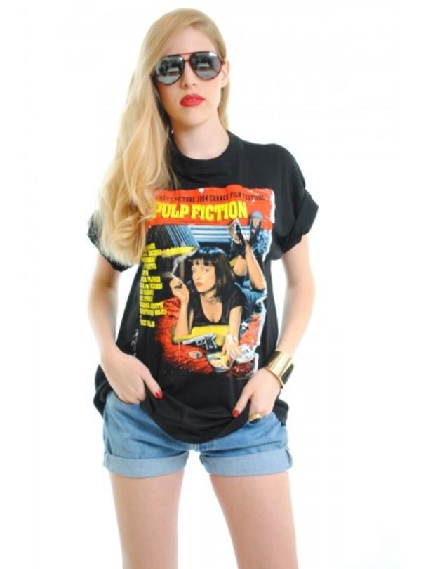 Pulp Fiction 90s Pop Culture Rock T Shirt Uma Thurman S Ebay