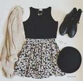 cardigan,beige,skirt,oversized sweater,top,boots,hat,daisy,floral,floral skirt,skater skirt,black,yellow,white,off-white,sweater,off-white sweater,oversized cardigan,white sweater,black crop top,black top,crop tops,floral skater skirt,black skater skirt,black shirt,combat boots,black boots,booties,black booties,shoes,knitted cardigan,knitwear,knitted sweater,cropped,black shoes,black and white,flowers,floral midi skirt,mini skirt,short skirt,halter top,halter crop top,crop tops set,cropped tank top,daisy skirt,daisy dress,circle skirt,black heels
