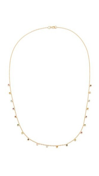candy necklace gold jewels