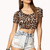 Leopard Print Crop Top | FOREVER21 - 2000074573