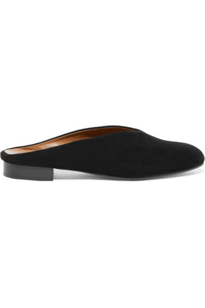ATP Atelier slippers suede black shoes