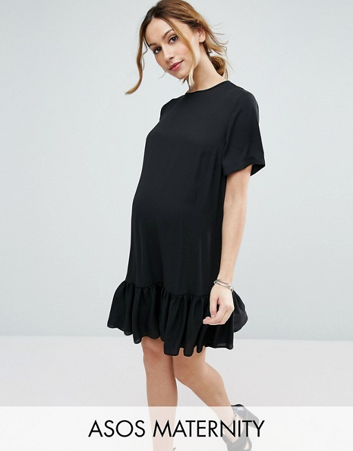 71d1dbefc347 ASOS Maternity T-Shirt Dress With Ruffle Hem at asos.com