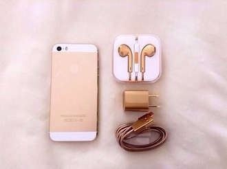 earphones charger i phone5s technology accessories iphone case gold adapter