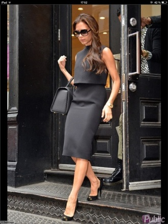 dress victoria beckham black