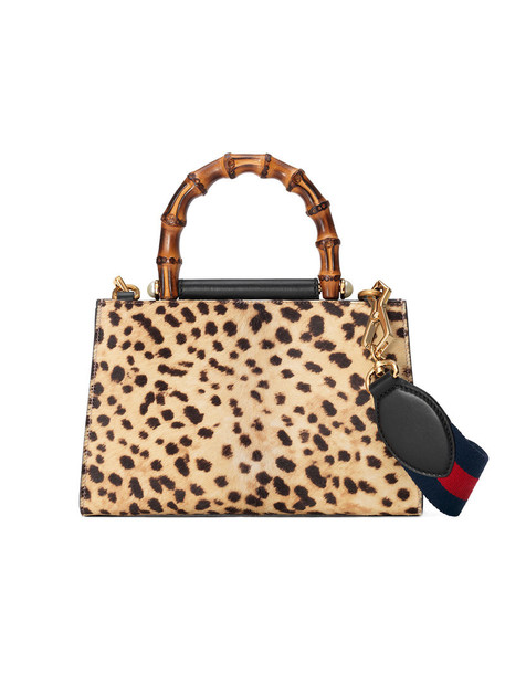 gucci mini hair women bag mini bag leather nude print suede leopard print
