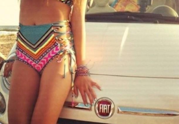 jumpsuit colorful bottom bikini