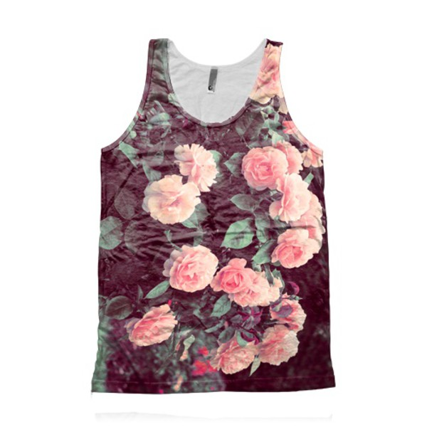 all over printed unisex hipster flowers floral