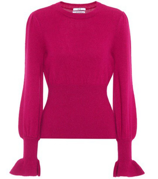 CO sweater wool sweater wool pink