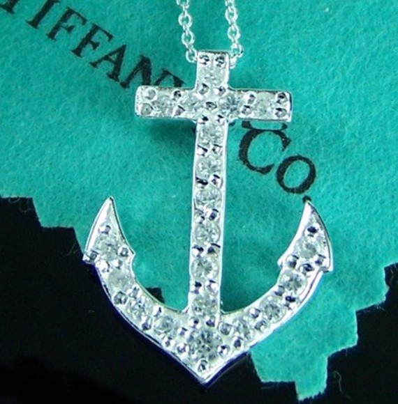 jewels anchor tiffany anchor necklace silver