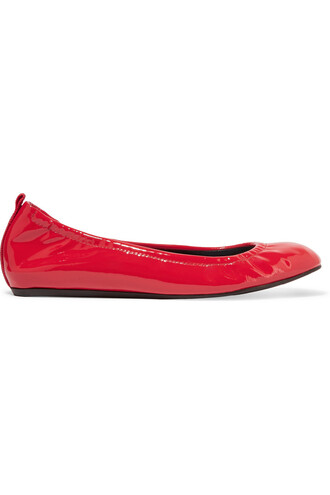ballet flats ballet flats leather red shoes