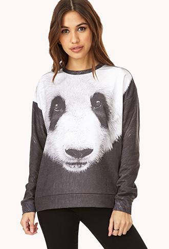 Hello Panda! Sweatshirt | FOREVER21 - 2000090732