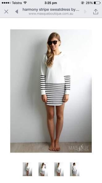 dress sweater striped dress stripes black dress black and white dress