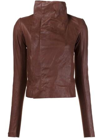 jacket biker jacket brown