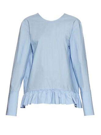 top long cotton light blue light blue