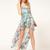 Chiffon Sleeveless Asymmetrical Floral Vacation Vest Dress : KissChic.com