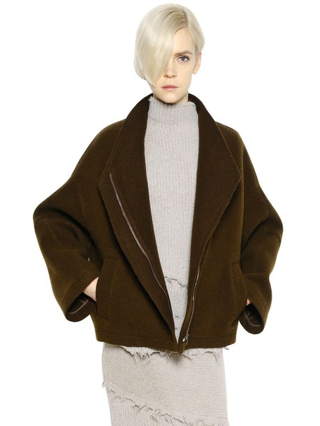 jacket mohair wool brown