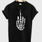 Fuck off skeleton hand sign tshirt - stylecotton