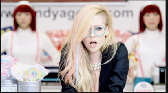 pastel blue sunglasses glasses hello kitty avril lavigne