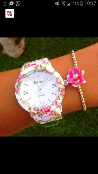 golden jewels watch floral