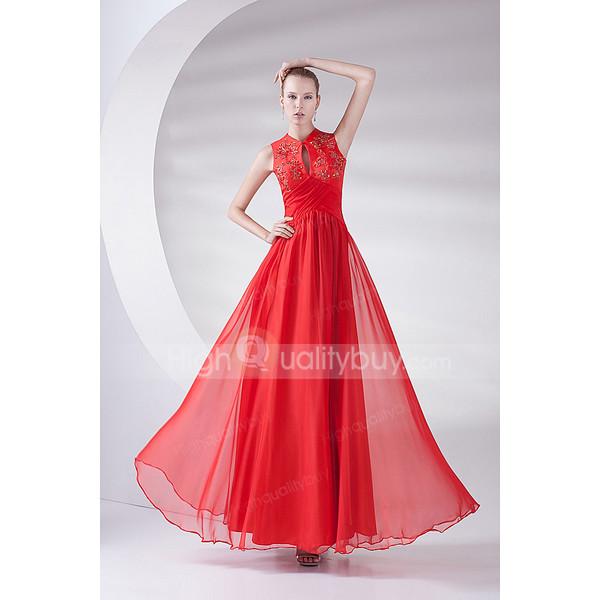 chiffon dress evening dress floor length dress