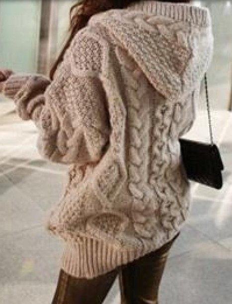 Oversized Cable Knit Cardigan Sweater 55