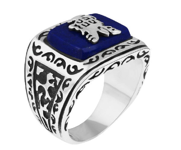 jewels menswear lapis lazuli 925 silver 925 silver ring