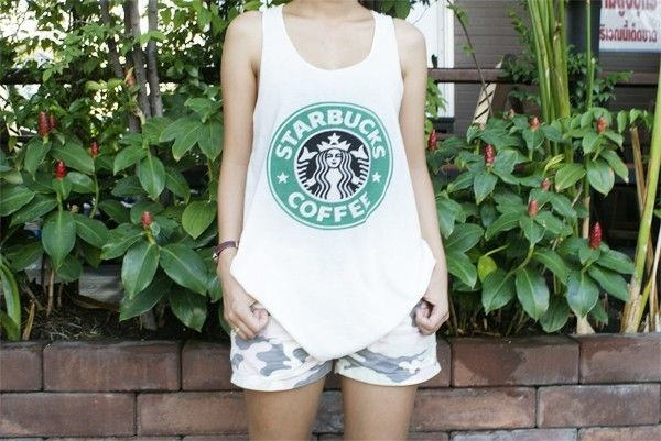 Starbucks Coffee Vintage T Shirt Free Size s M L Tops Blouses Tank Free Shipping | eBay
