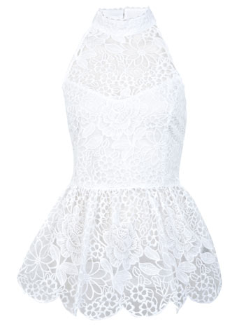 DESIGNED BY Organza Peplum Top - Designed By  - Clothing  - Miss Selfridge