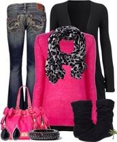 cardigan,jeans,pants,culottes,pink,culottes pants