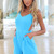 Blue Jump Suits/Rompers - Sky Blue Playsuit with Exposed | UsTrendy