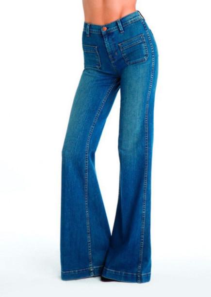 jeans wide-leg pants