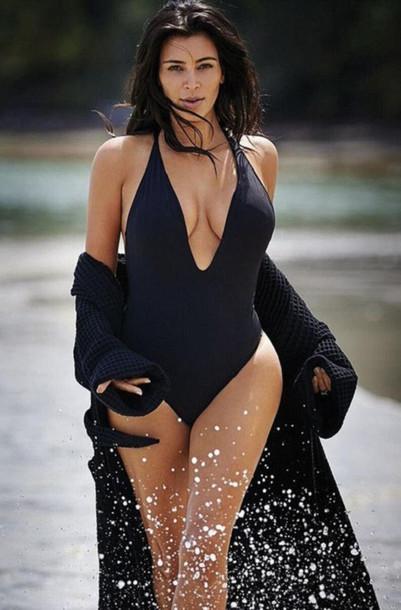 dab9ca1211524 swimwear, peixoto, black, celebrity, cheeky, one piece, v neck ...