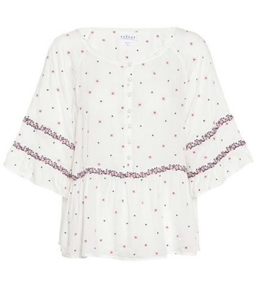 Velvet Linnea bell-sleeve top in white