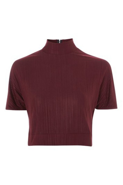 Topshop top short burgundy
