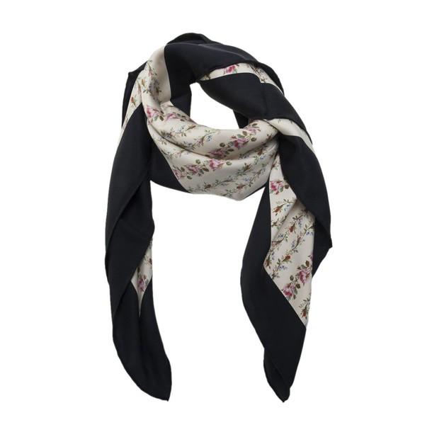 gucci rose scarf silk scarf print silk