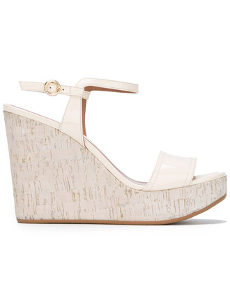 women sandals wedge sandals leather white shoes