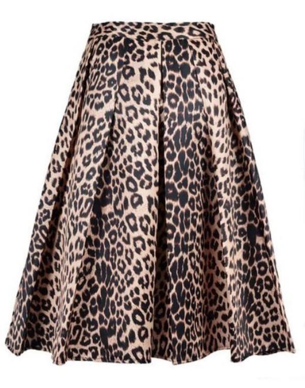 high waist skirt midi skirt leopard midi skirt www.ustrendy.com