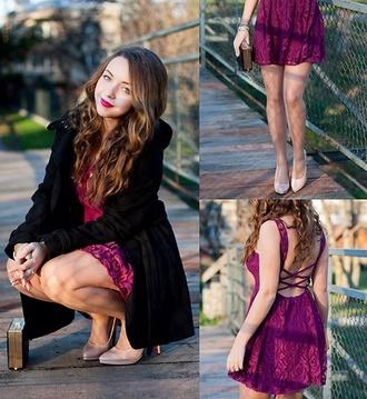 dress pink dress coat shoes open back