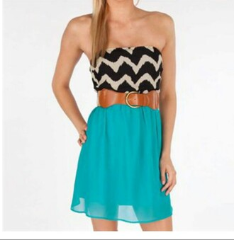 dress chevron blue