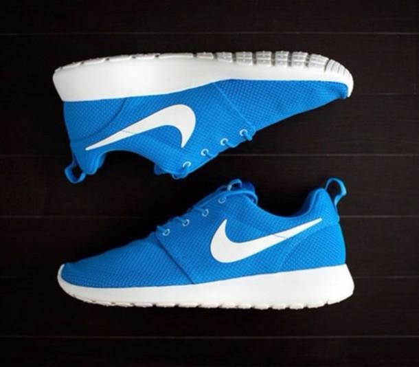 shoes nike roshe run nike hero blue