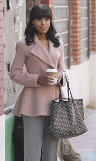 coat clothes olivia pope winter coat short coat