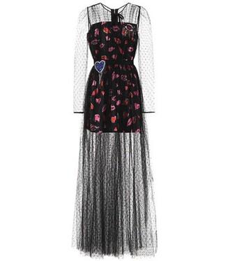 dress tulle dress black