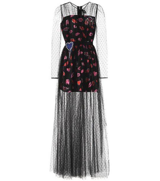 MSGM dress tulle dress black